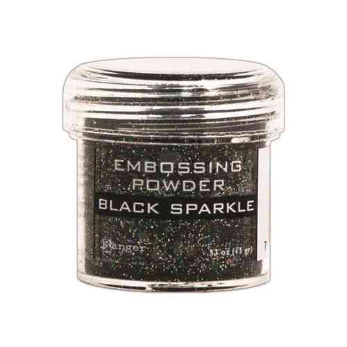 Ranger Embossing Powder Black Sparkle