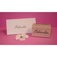 Personalised Stamp - Name Small Wood