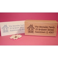 Personalised Stamp - Rectangle Large Wood