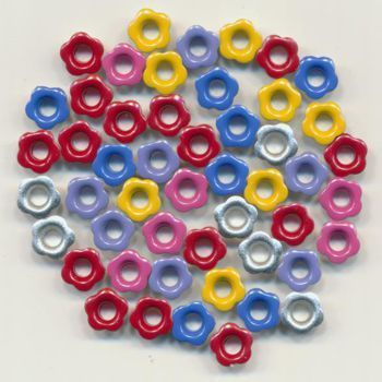 Elegant Eyelets - Mini Flower Assorted Colours