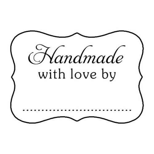 W45H Handmade with love by - Wood Mounted Stamp