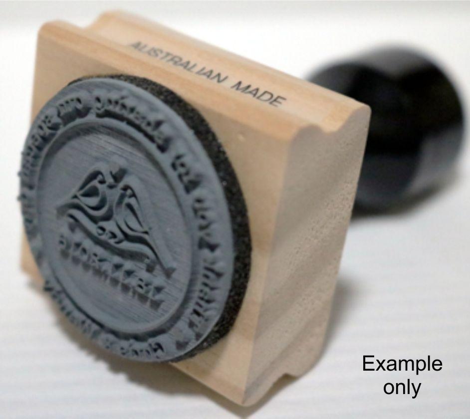 Custom Wedding Stamp Wood Mounted With Handle Wd405 Australia