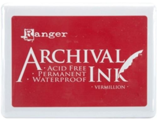 Archival Inkpad Vermillion Red - Jumbo Size