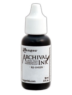 Ranger Archival Refill Ink - Jet Black